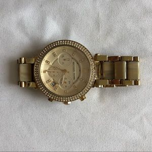 Michael Kors two toned gold week watch!